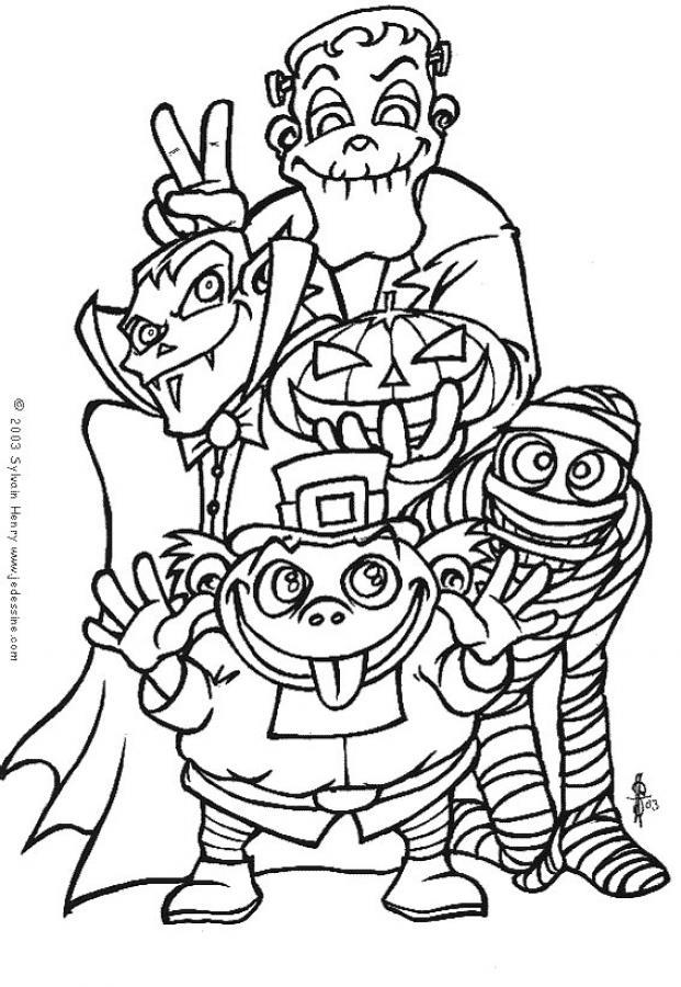 Dibujos para colorear disfraces de halloween - es.hellokids.com