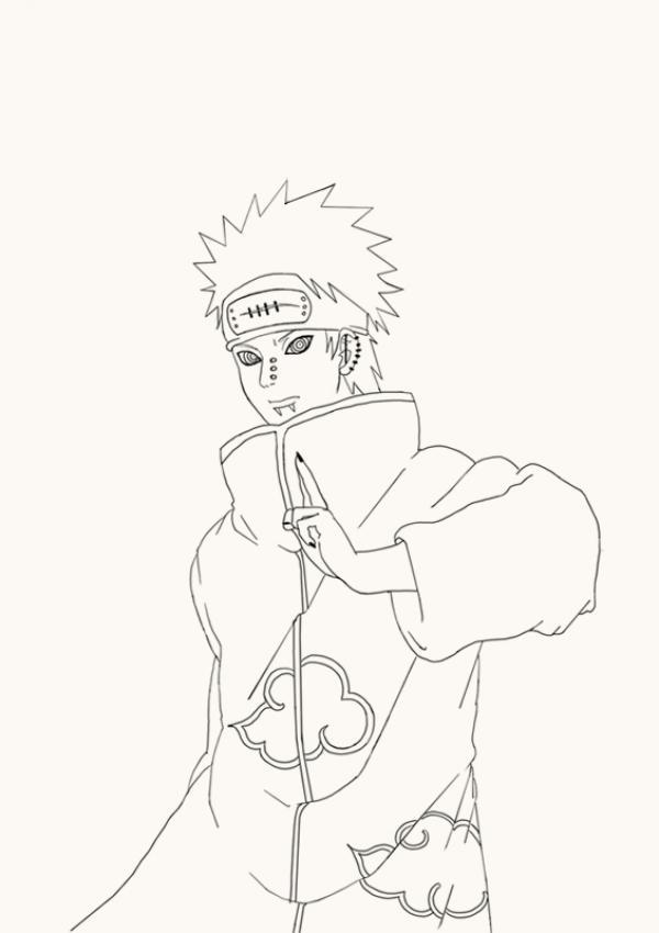 Dibujos para colorear naruto - sasuke chidori - es.hellokids.com