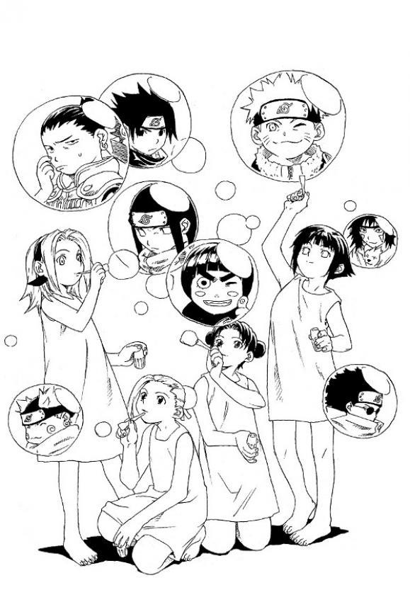 Dibujos para colorear personajes de naruto  eshellokidscom