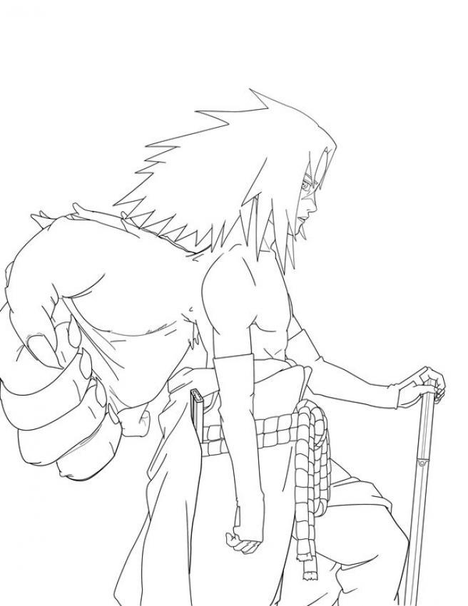Dibujo para colorear : Naruto - Sasuke