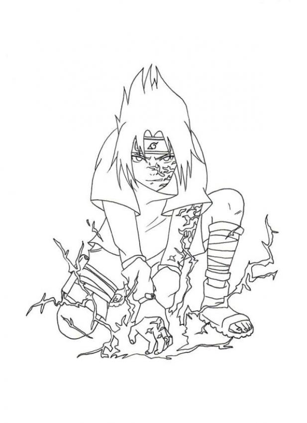 Dibujo para colorear : Naruto - Sasuke Chidori
