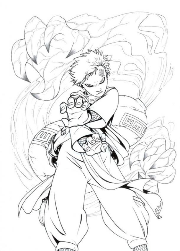 Naruto - Shukaku - Dibujos para colorear e imprimir NARUTO