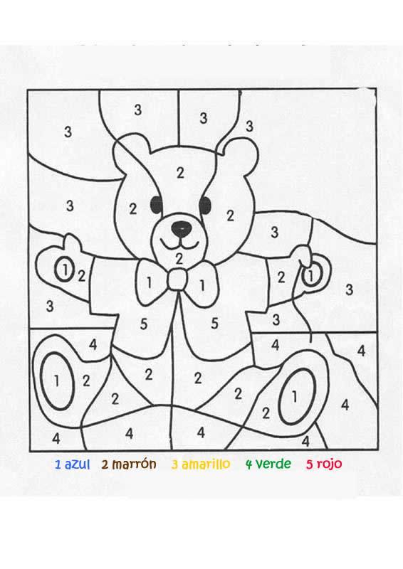 Dibujos Para Colorear Juego De Pintar Osito Facil Es
