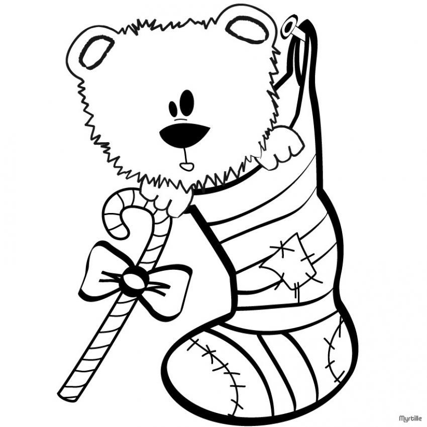 Dibujos para colorear oso de navidad - Dibujos navidad en color ...