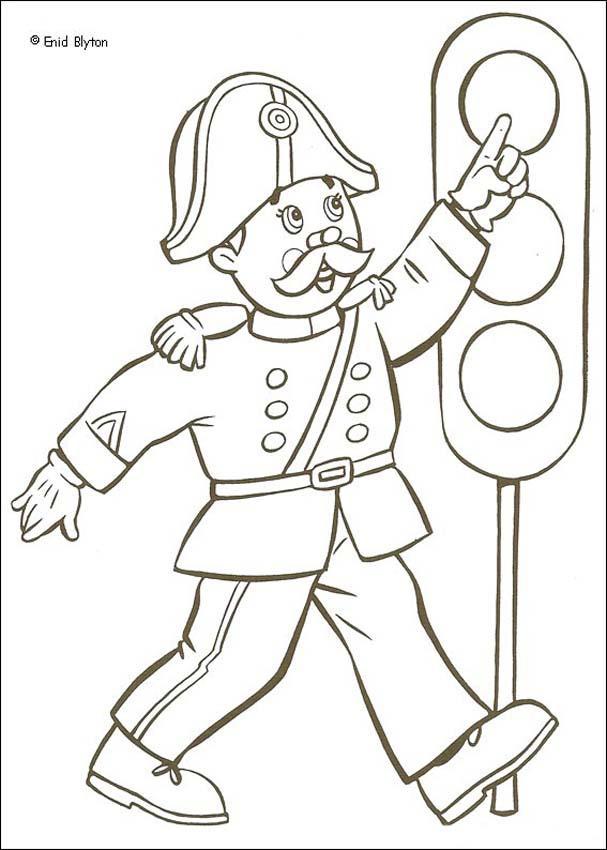 Dibujo para colorear : Sr. Pull y el semáforo