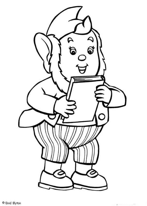Dibujos para colorear jumbo y su libro - es.hellokids.com