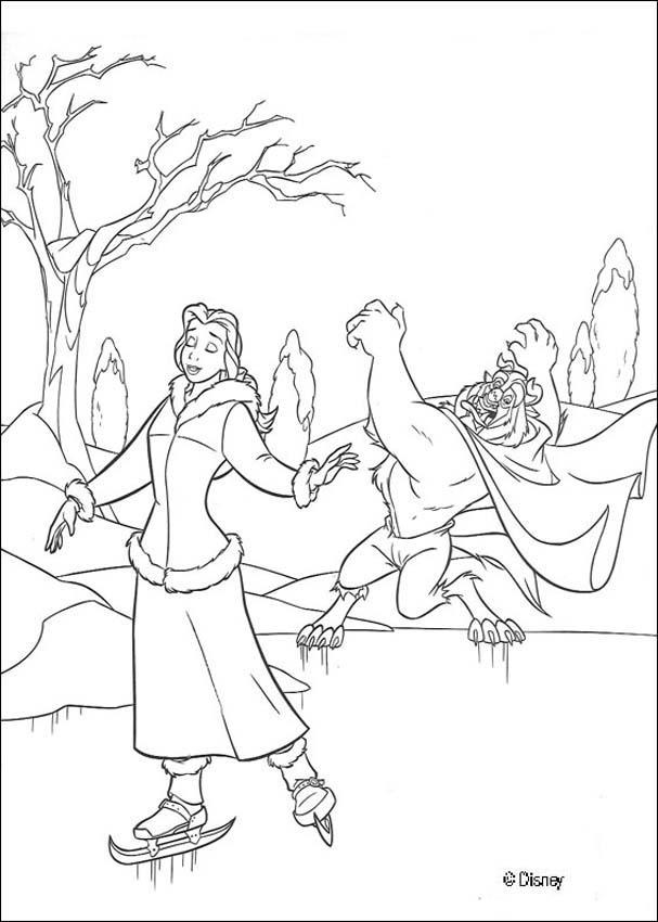 Dibujos LA BELLA Y LA BESTIA para colorear Disney  18 imgenes de