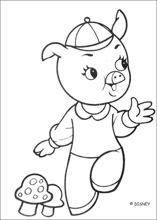 Dibujos para colorear uno de los tres cerditos  eshellokidscom