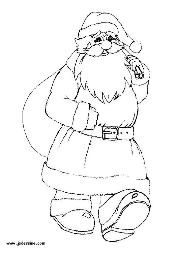 Dibujos para colorear santa claus con su cesta es - Papa noel coloriage ...