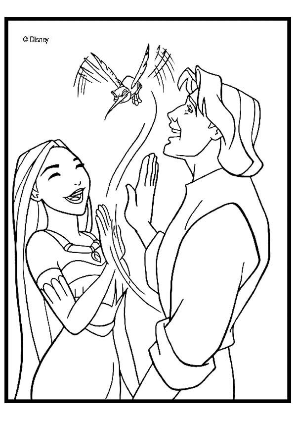 Dibujos POCAHONTAS para colorear - 16 imágenes de Pocahontas para ...