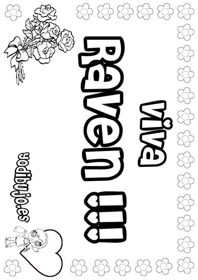 Dibujos Para Colorear Raven Eshellokidscom