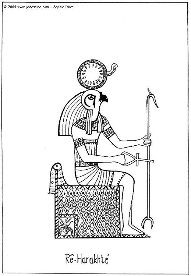 Dibujos para colorear dios seth de antiguo egipto - es.hellokids.com