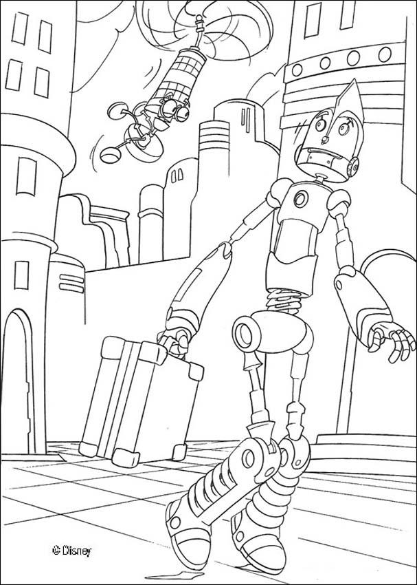 Dibujos para colorear ROBOTS PELICULA - pintar 18 imagenes infantiles