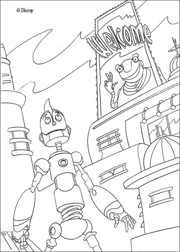Dibujo para colorear : Rodney sueña con el Gran Soldador