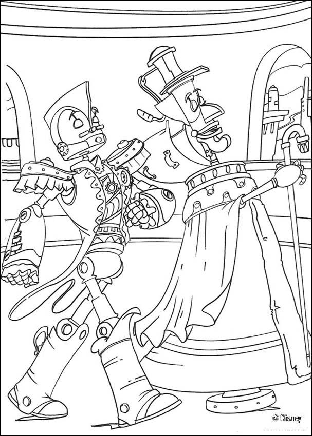 Dibujo para colorear : Los robots Manivela y Rodney