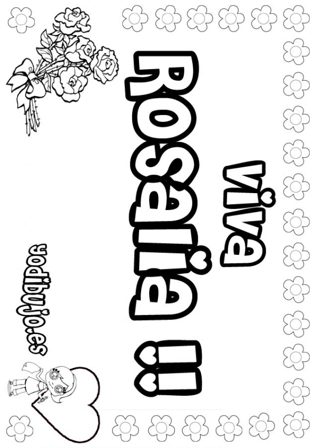 Nombre de niña para pintar : ROSALIA