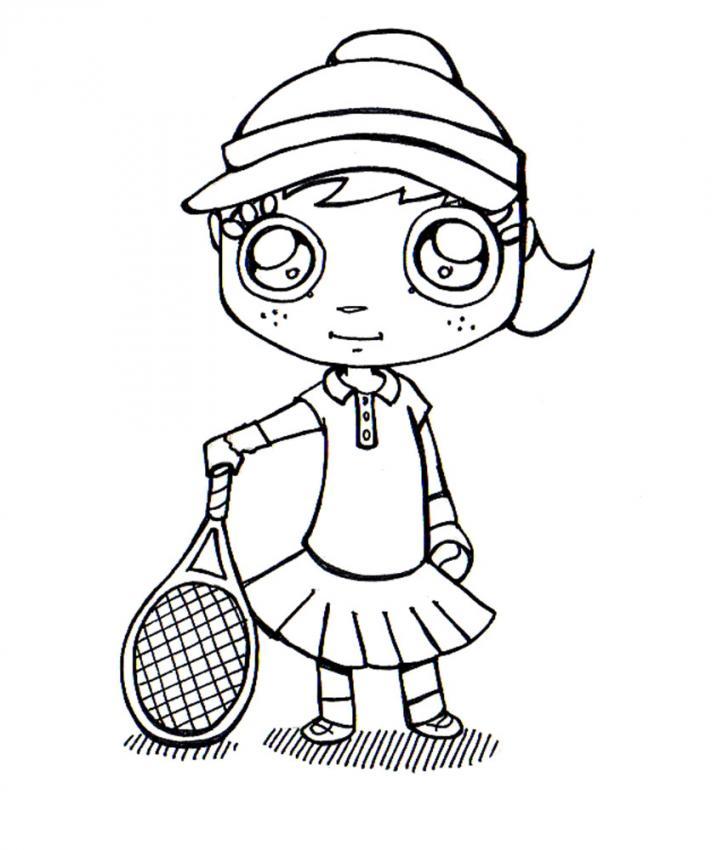 Dibujo Para Colorear   Jugadora De Tenis