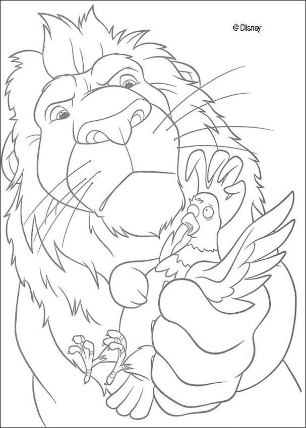 Dibujos para colorear samson y el gallo - es.hellokids.com