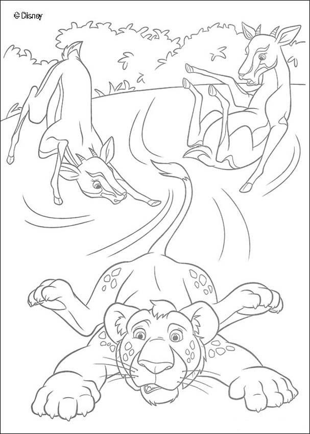 Dibujo para colorear : Ryan y las antílopes