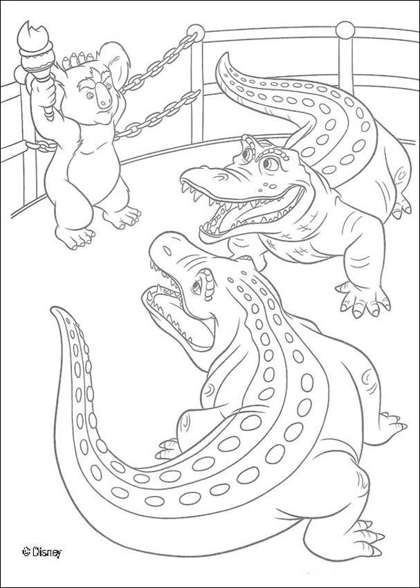 Dibujo para colorear : Nigel y los cocodrilos