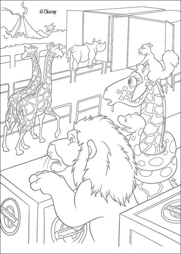 Dibujos para colorear el zoo - es.hellokids.com