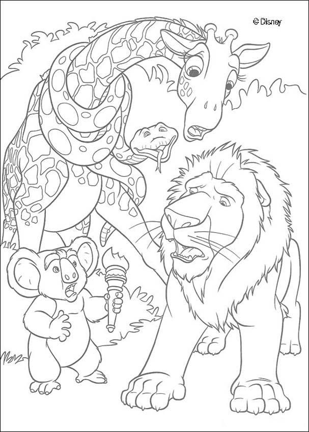 Dibujos para colorear samson el león - es.hellokids.com
