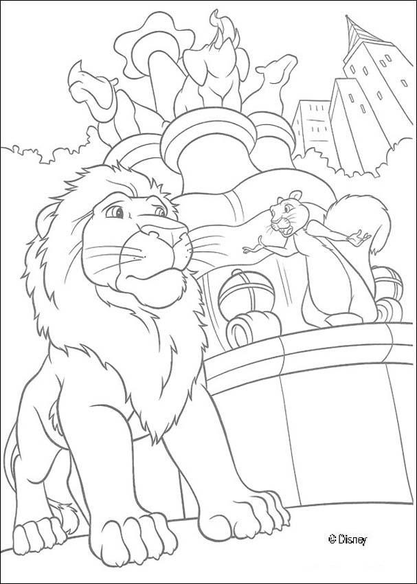 Dibujos para colorear samson y benny en el zoo - es.hellokids.com