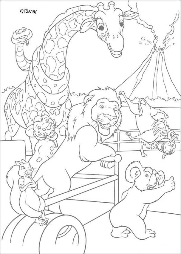 Dibujos para colorear en el zoo de nueva york - es.hellokids.com