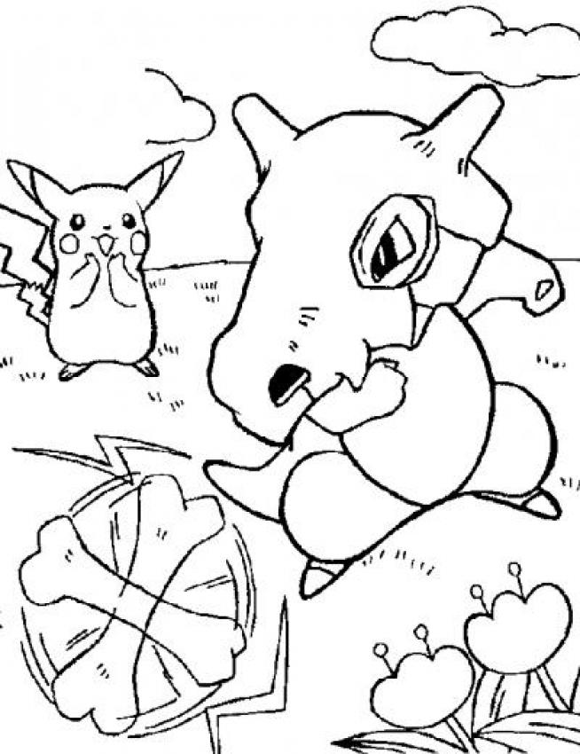 Dibujo para colorear : Traviesos Pokemon