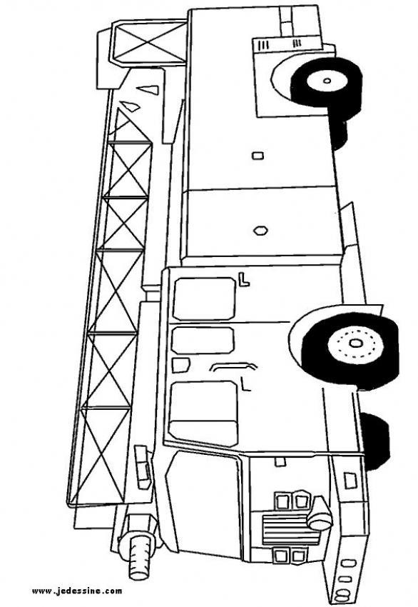 Dibujos para colorear el camión de los bomberos - es.hellokids.com