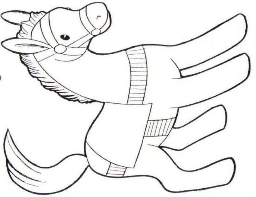 Dibujo para colorear : Poni juguete