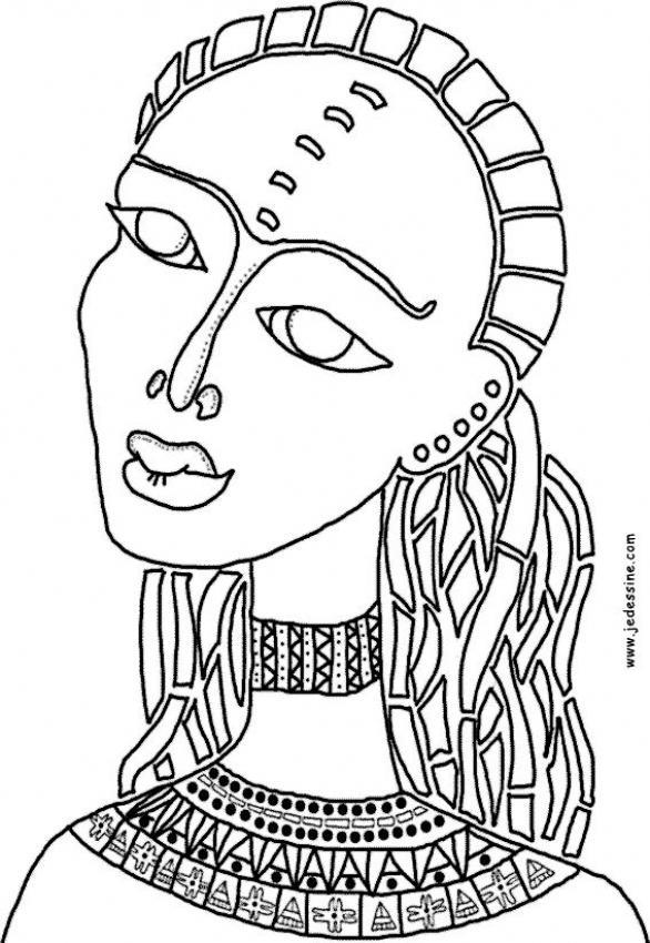 Dibujos para colorear papiro egipcio - es.hellokids.com