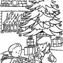 Los regalos - Dibujos para Colorear y Pintar - Dibujos para colorear FIESTAS - Dibujos para colorear de NAVIDAD - Colorear dibujos REGALOS DE NAVIDAD
