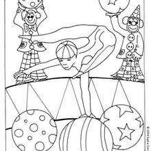 Dibujo acróbata - Dibujos para Colorear y Pintar - Dibujos infantiles para colorear - Circo para colorear