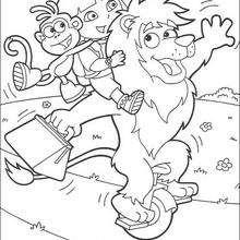 Acrobacia - Dibujos para Colorear y Pintar - Dibujos para colorear PERSONAJES - PERSONAJES TV para colorear - Dora y sus amigos para colorear