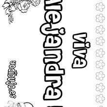 ALEJANDRA colorear nombre niña - Dibujos para Colorear y Pintar - Dibujos para colorear NOMBRES - Dibujos para colorear NOMBRES NIÑAS