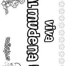 ALMUDENA colorear nombre niña - Dibujos para Colorear y Pintar - Dibujos para colorear NOMBRES - Dibujos para colorear NOMBRES NIÑAS