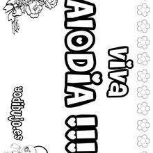 ALODIA colorear nombre niña - Dibujos para Colorear y Pintar - Dibujos para colorear NOMBRES - Dibujos para colorear NOMBRES NIÑAS