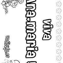 ANA MARIA colorear nombre niña - Dibujos para Colorear y Pintar - Dibujos para colorear NOMBRES - Dibujos para colorear NOMBRES NIÑAS