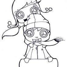 Dibujo de niños en un trineo para la nieve - Dibujos para Colorear y Pintar - Dibujos para colorear DEPORTES - Dibujos de DEPORTES DE INVIERNO para colorear - Dibujos para colorear TRINEO PARA LA NIEVE