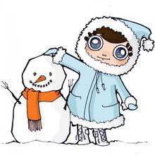Dibujo san valentin INVIERNO - Dibujar Dibujos - Dibujos infantiles para IMPRIMIR - Dibujos de SAN VALENTIN para imprimir