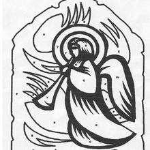 Pintar un Ángel - Juegos divertidos - Juegos para IMPRIMIR - Juegos de PINTAR - Los personajes: dibujos mágicos