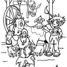 El corral - Dibujos para Colorear y Pintar - Dibujos para colorear ANIMALES - Dibujos ANIMALES DE GRANJA para colorear - Dibujos para colorear e imprimir ANIMALES DE GRANJA