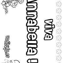 ANNABELLA colorear nombre niña - Dibujos para Colorear y Pintar - Dibujos para colorear NOMBRES - Dibujos para colorear NOMBRES NIÑAS