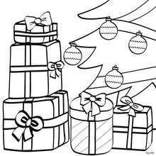 Dibujo Arbol de Navidad con regalos para colorear - Dibujos para Colorear y Pintar - Dibujos para colorear FIESTAS - Dibujos para colorear de NAVIDAD - Colorear dibujos REGALOS DE NAVIDAD