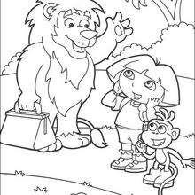 Dibujo para colorear : ¡Hasta luego león!