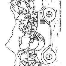 Babar en coche - Dibujos para Colorear y Pintar - Dibujos para colorear PERSONAJES - PERSONAJES ANIME para colorear - Babar el elefante para pintar