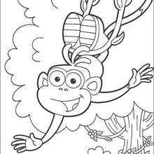 Botas 2 - Dibujos para Colorear y Pintar - Dibujos para colorear PERSONAJES - PERSONAJES TV para colorear - Dora y sus amigos para colorear