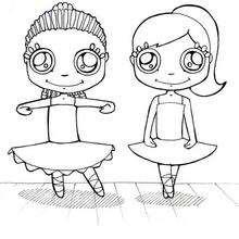 Dibujo para colorear : Bailarinas