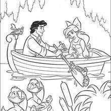Dibujo para colorear : Ariel muda